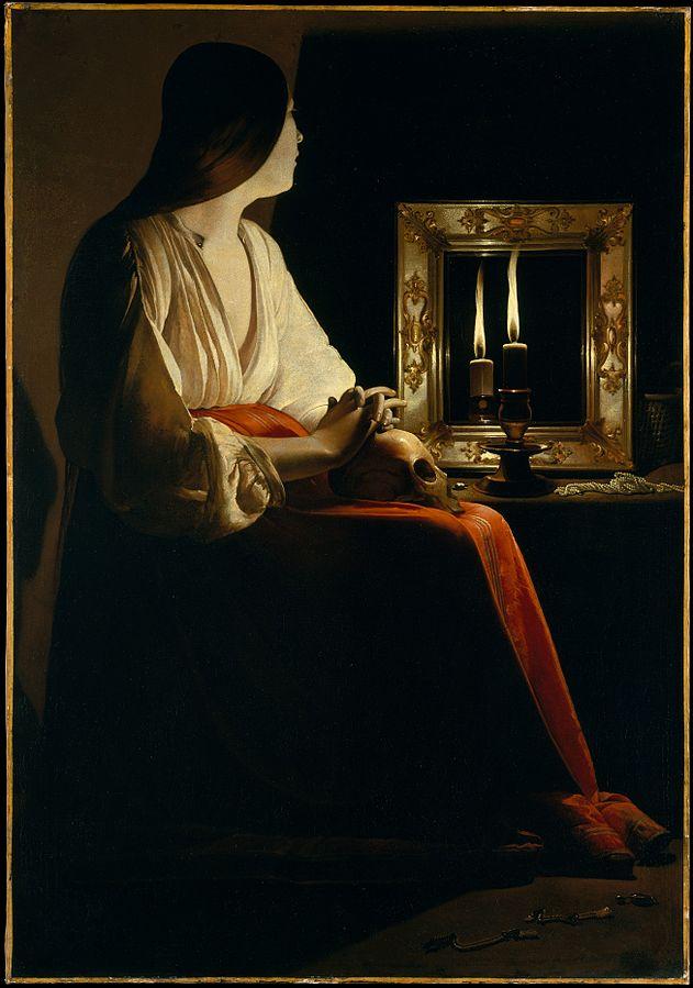 画像_ジョルジュ・ド・ラ・トゥール「悔い改めるマグダラのマリア」