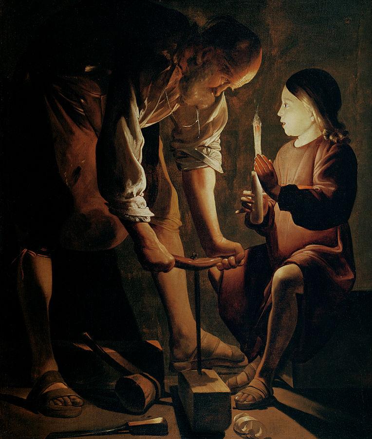 画家_ジョルジュ・ド・ラ・トゥール「聖ヨセフ」