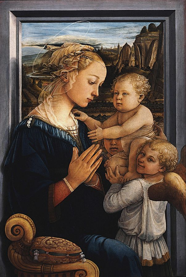 画像_フラ・フィリッポ・リッピ「聖母子と二天使」