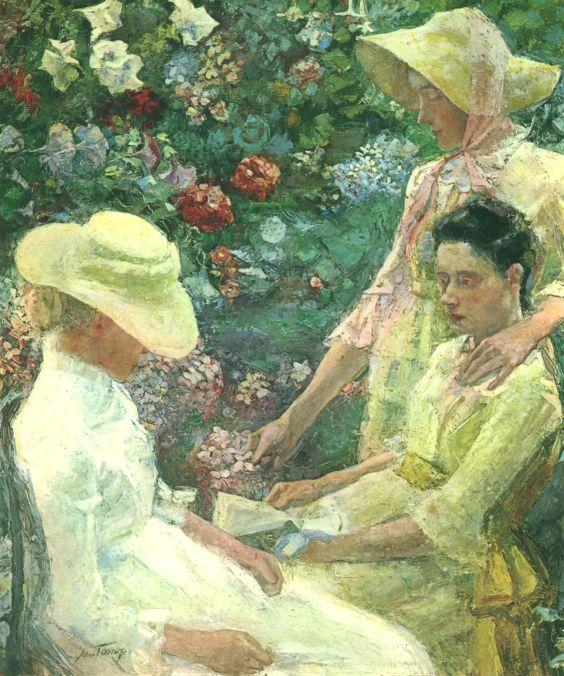 画像_ヤン・トーロップ「花園と三姉妹」