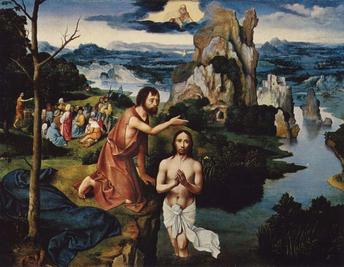 画像_ヨアヒム・パティニール「キリストの洗礼」