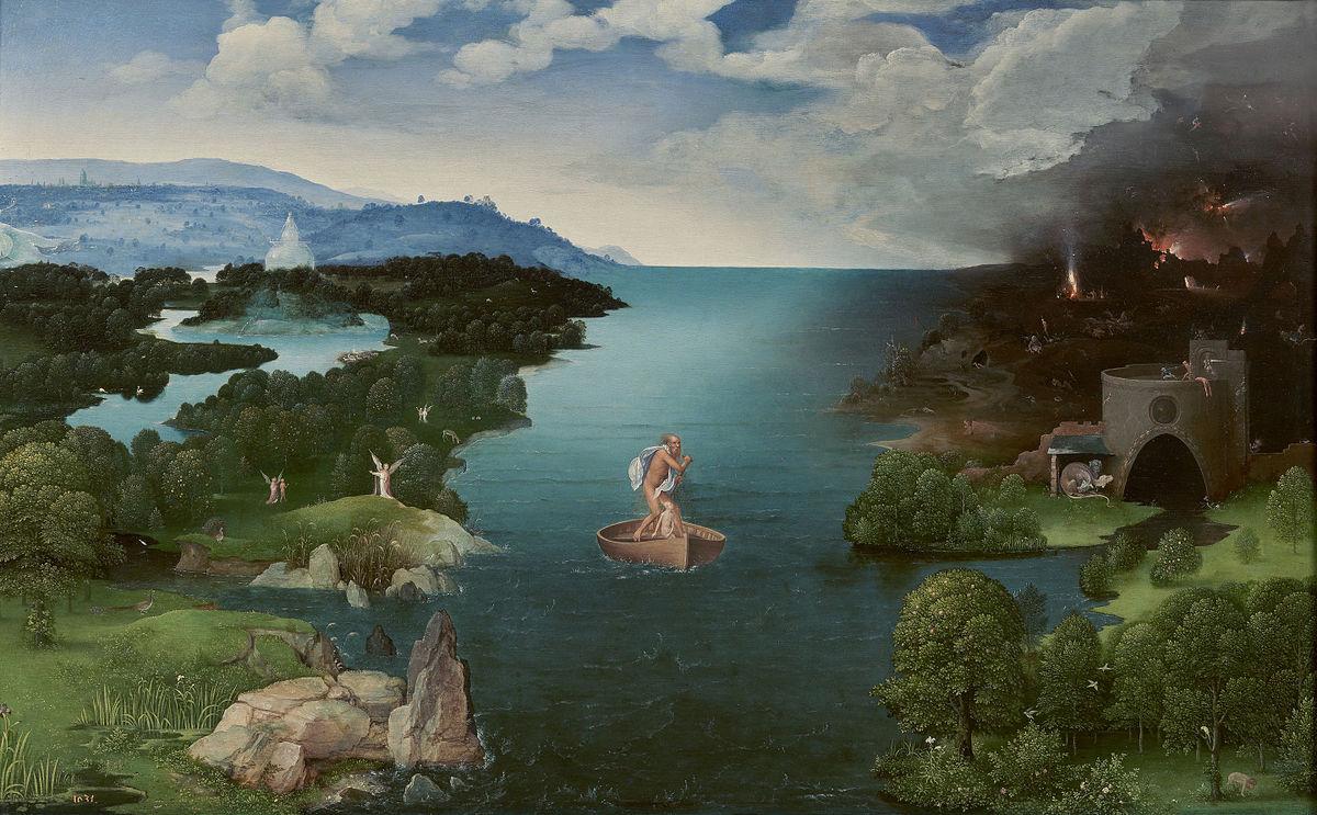 画像_ヨアヒム・パティニール「ステュクス川を渡るカロン」
