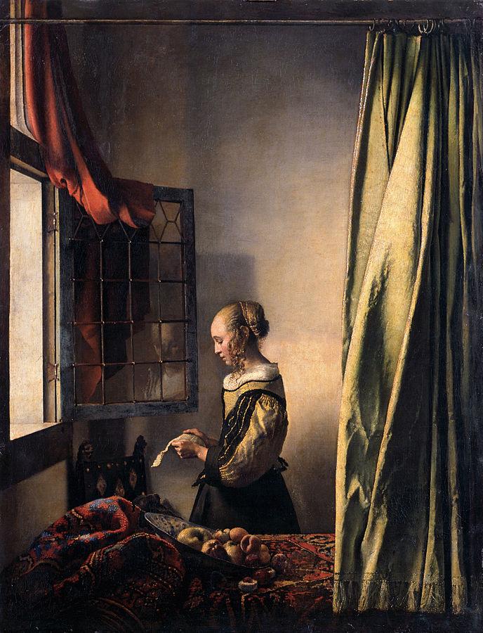 画像_ヨハネス・フェルメール「窓辺で手紙を読む女」
