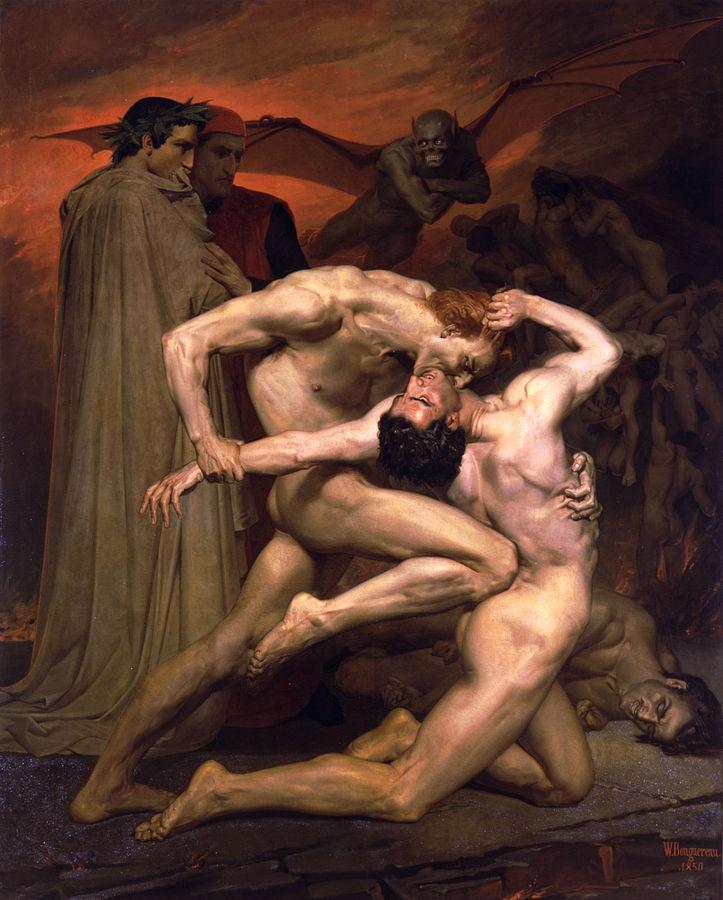 画像_ウィリアム・アドルフ・ブーグロー「地獄のダンテとウェルギリウス」
