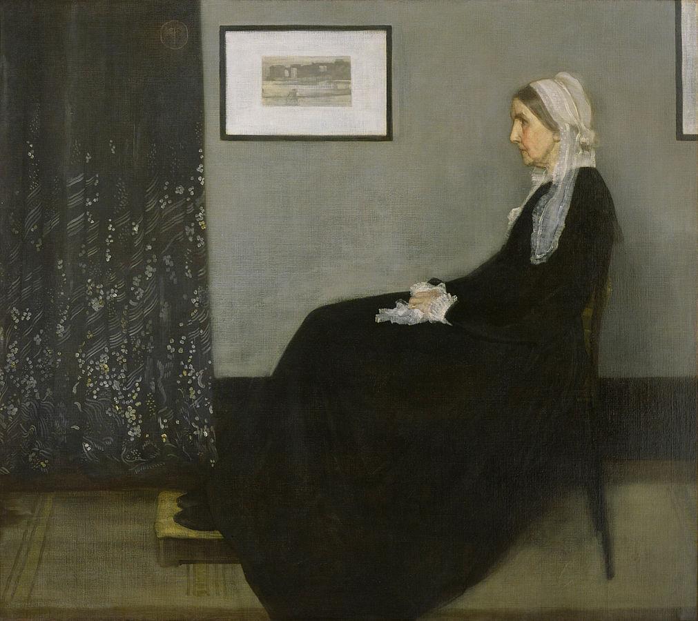 画像_ジェームズ・マクニール・ホイッスラー「灰色と黒のアレンジメント - 母の肖像」