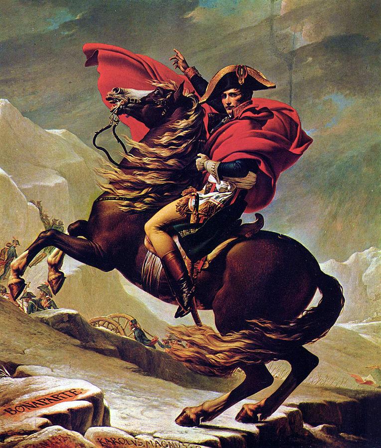 画像_ジャック=ルイ・ダヴィッド「アルプスを越えるナポレオン」