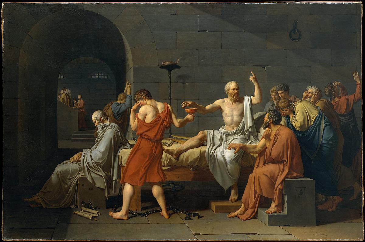 画像_ジャック=ルイ・ダヴィッド「ソクラテスの死」