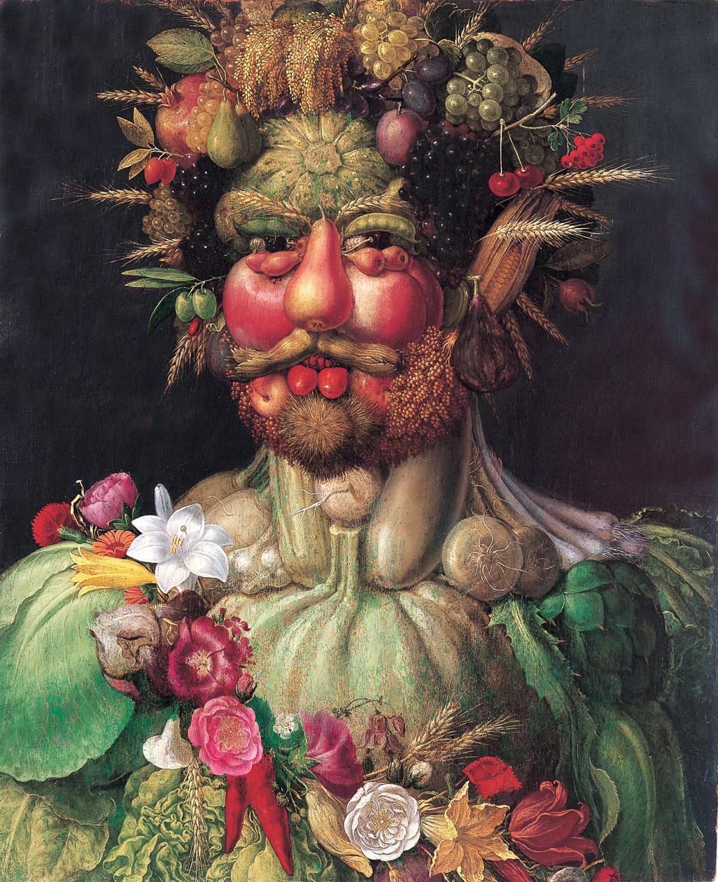 画像_ジュゼッペ・アルチンボルド「ウェルトゥムヌスに扮するルドルフ2世」