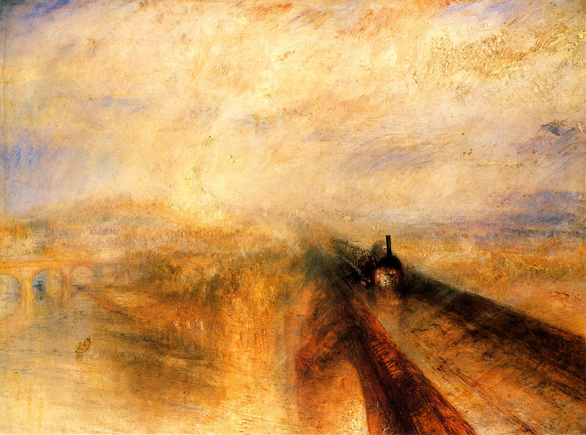 画像_ジョゼフ・マロード・ウィリアム・ターナー「雨、蒸気、スピード - グレート・ウェスタン鉄道」