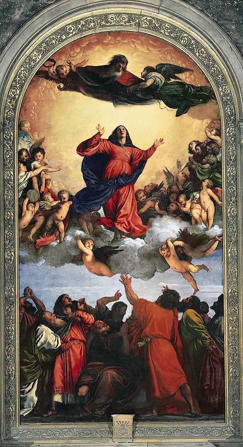 画像_ティツィアーノ・ヴェチェッリオ「聖母被昇天」
