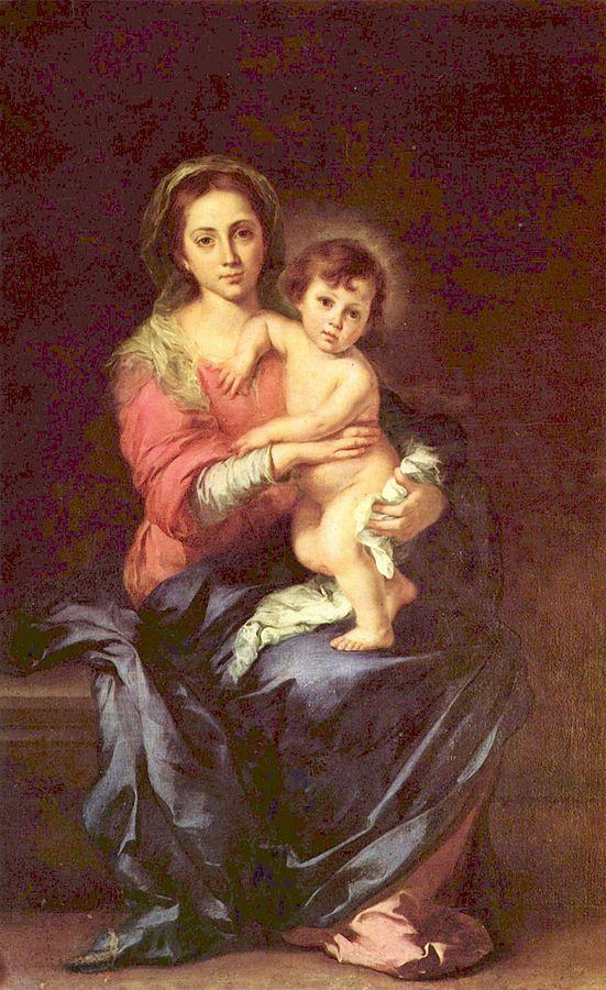 画像_バルトロメ・エステバン・ムリーリョ「聖母子」