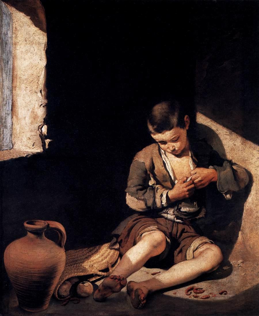 画像_バルトロメ・エステバン・ムリーリョ「蚤をとる少年」