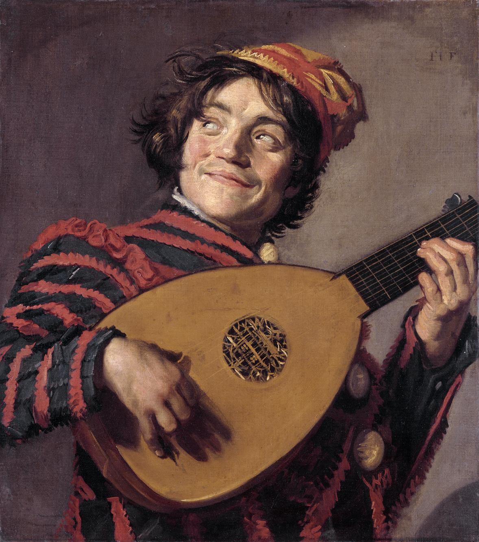 画像_フランス・ハルス「リュートを弾く道化師」
