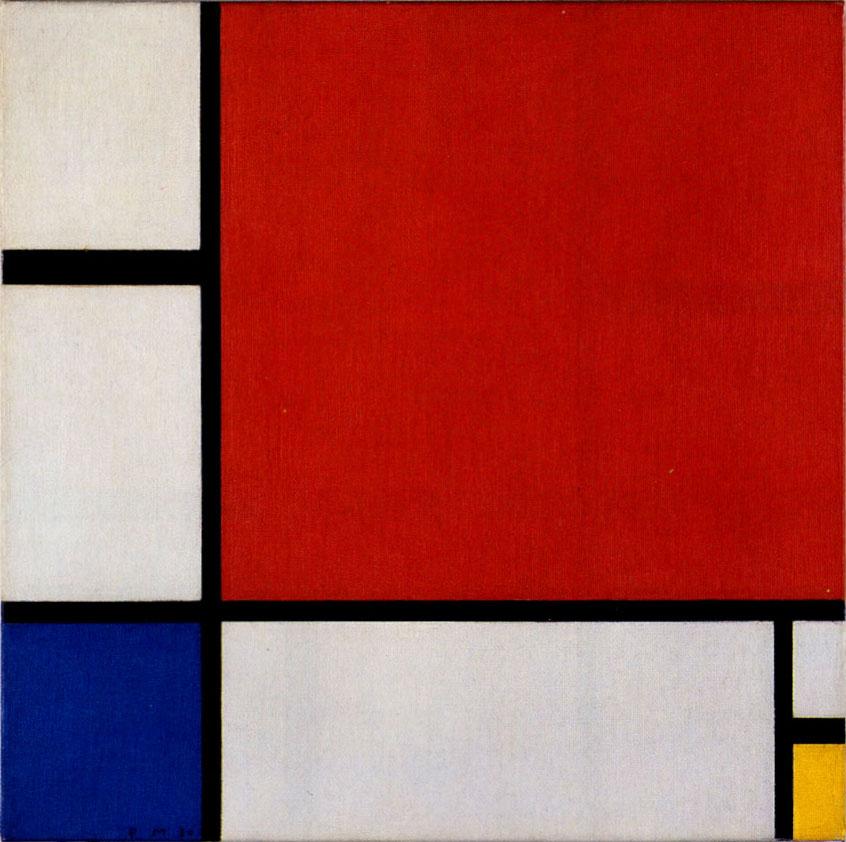 画像_ピエト・モンドリアン「赤・青・黄のコンポジション」