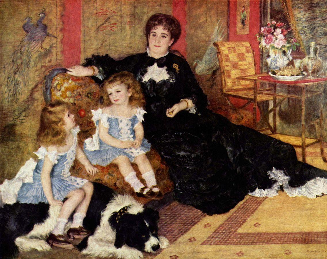 画像_ピエール=オーギュスト・ルノワール「シャルパンティエ夫人と子どもたち」