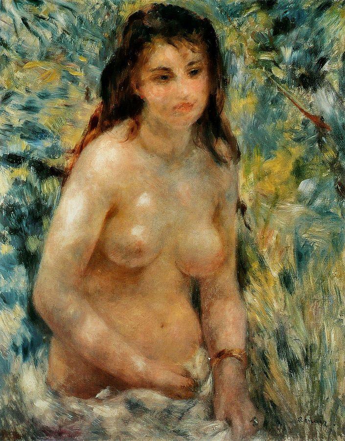 画像_ピエール=オーギュスト・ルノワール「陽光を浴びる裸婦」