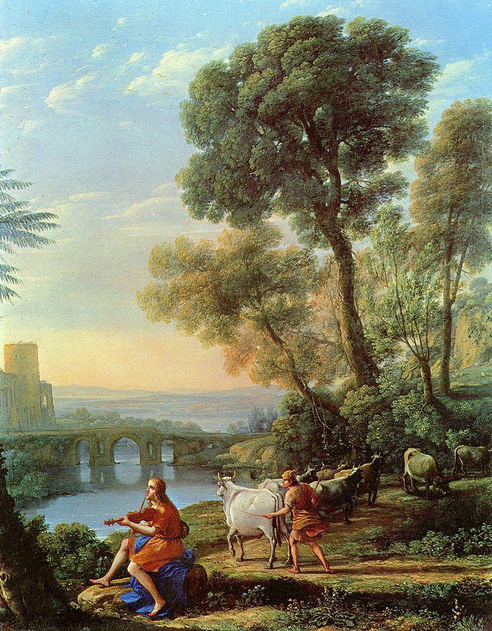 画像_クロード・ロラン「アポロとメルクリウスのいる風景」