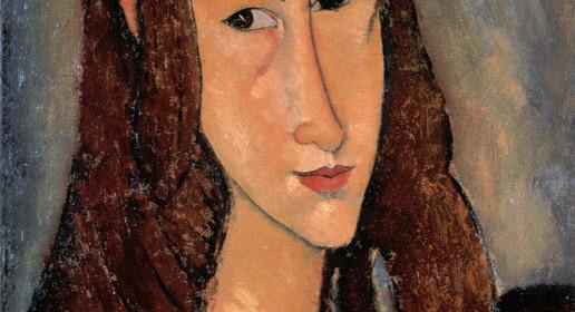 画像_アメデオ・モディリアーニ「赤毛の若い娘(ジャンヌ・エビュテルヌの肖像)」
