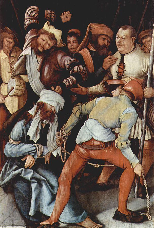 画像_マティアス・グリューネヴァルト「辱められるキリスト」