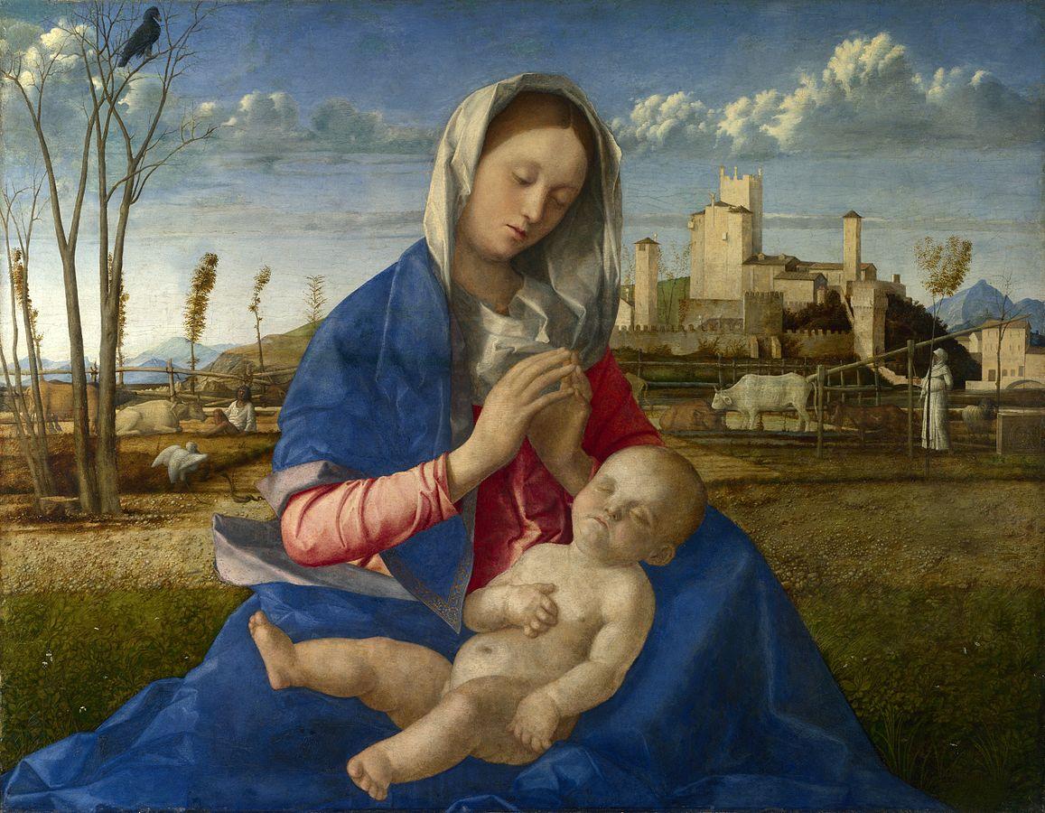 画像_ジョヴァンニ・ベリーニ『牧場の聖母』