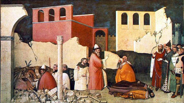 マーゾ・ディ・バンコ 「シルウェステル1世の人生(ドラゴンを退治した聖シルウェステル)」
