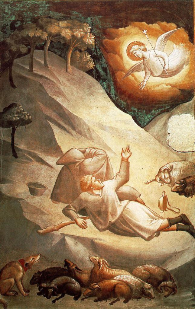 タッデオ・ガッディ 「羊飼いへの天使の知らせ」