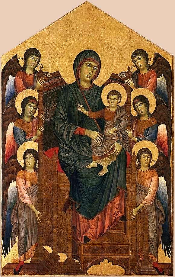 チマブーエ「聖母と天使たち」