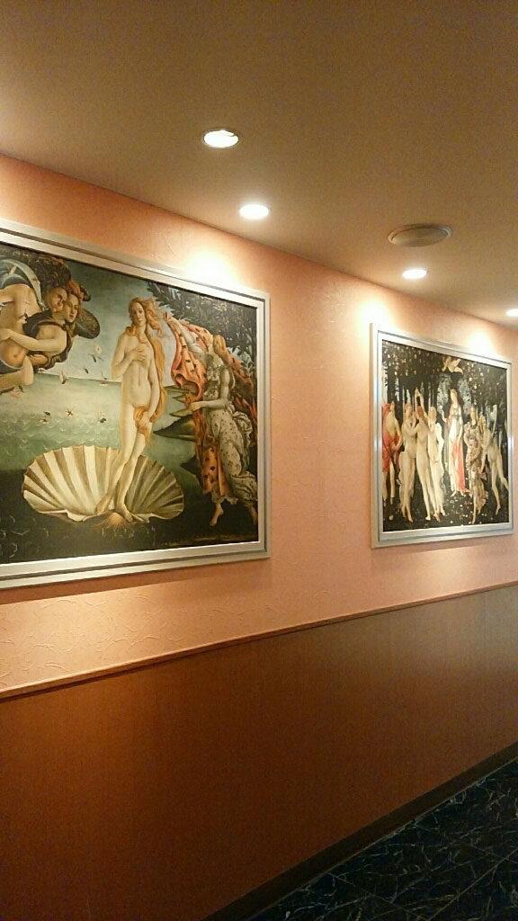 サイゼリヤにある「ヴィーナスの誕生」画像