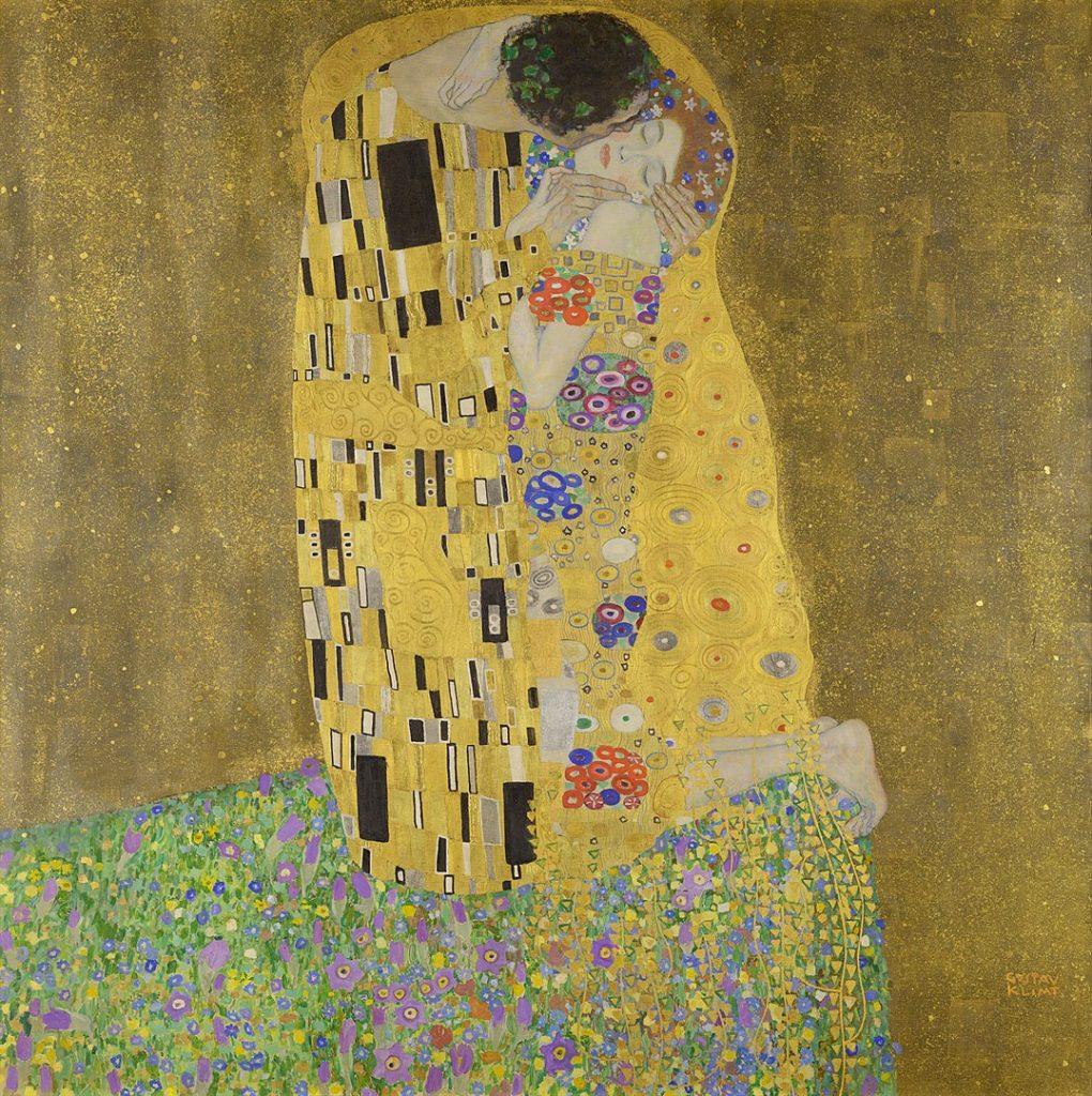 グスタフ・クリムト「接吻」