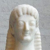 テネアのアポロン像(部分)