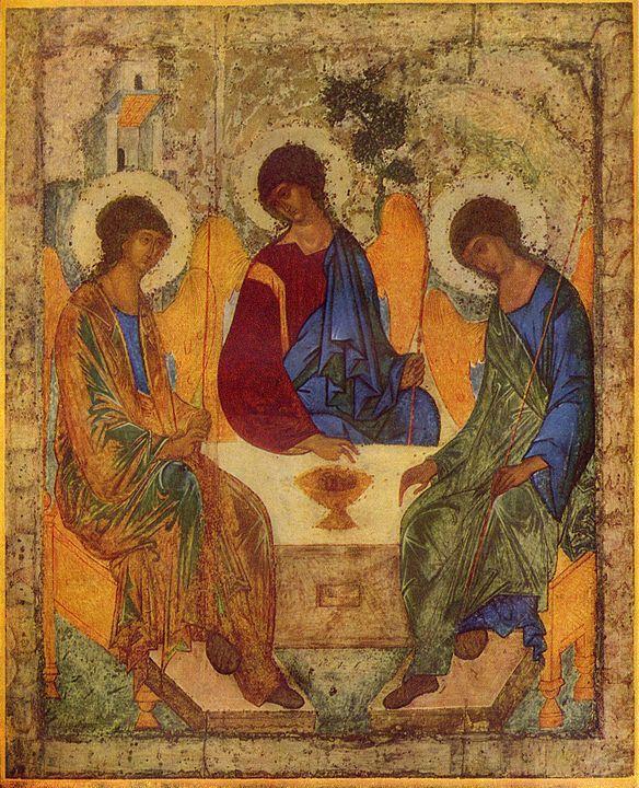 アンドレイ・ルブリョフ「至聖三者」の画像