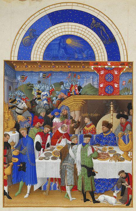 ランブール兄弟「ベリー公のいとも豪華なる時祷書」の画像