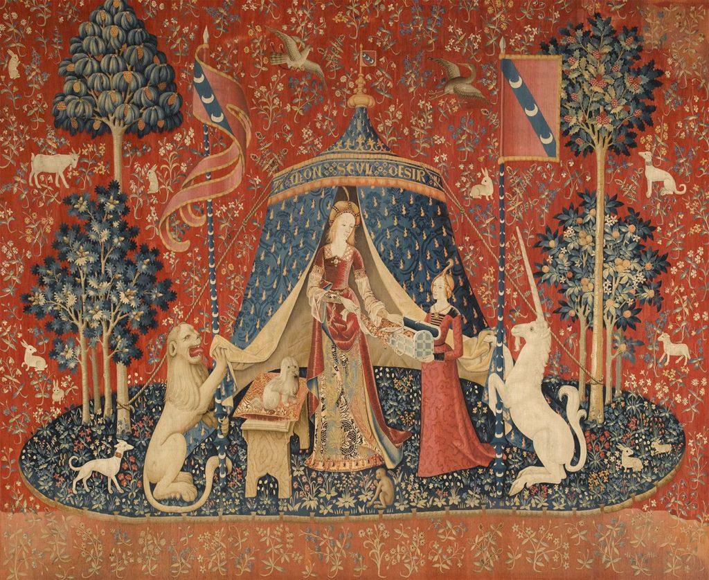「貴婦人と一角獣」の画像