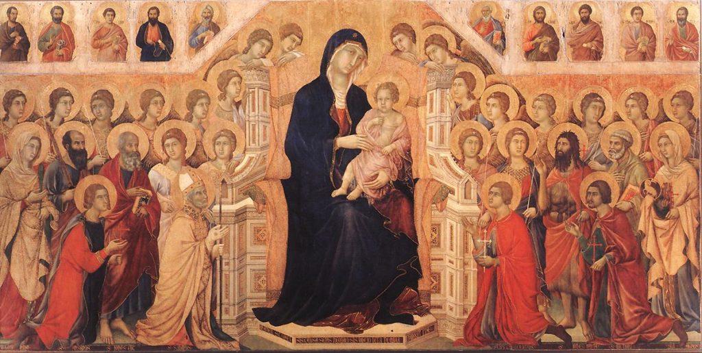 ドゥッチョ・ディ・ブオニンセーニャ「マエスタ(荘厳の聖母)」の画像
