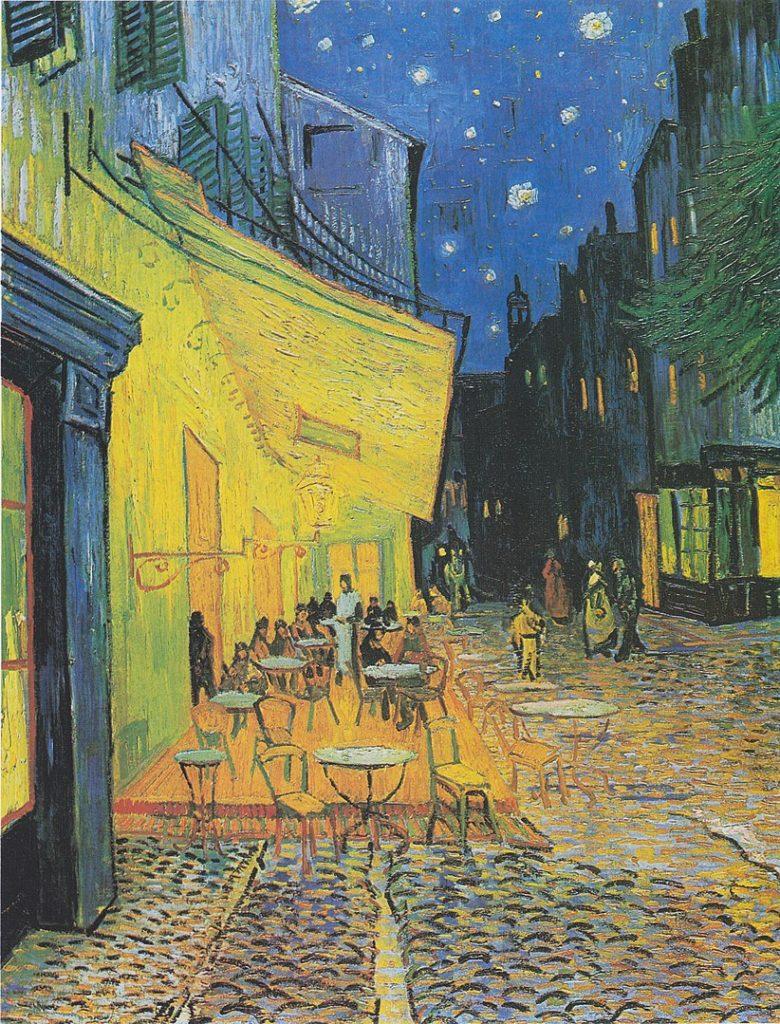 フィンセント・ファン・ゴッホ「夜のカフェテラス」の画像