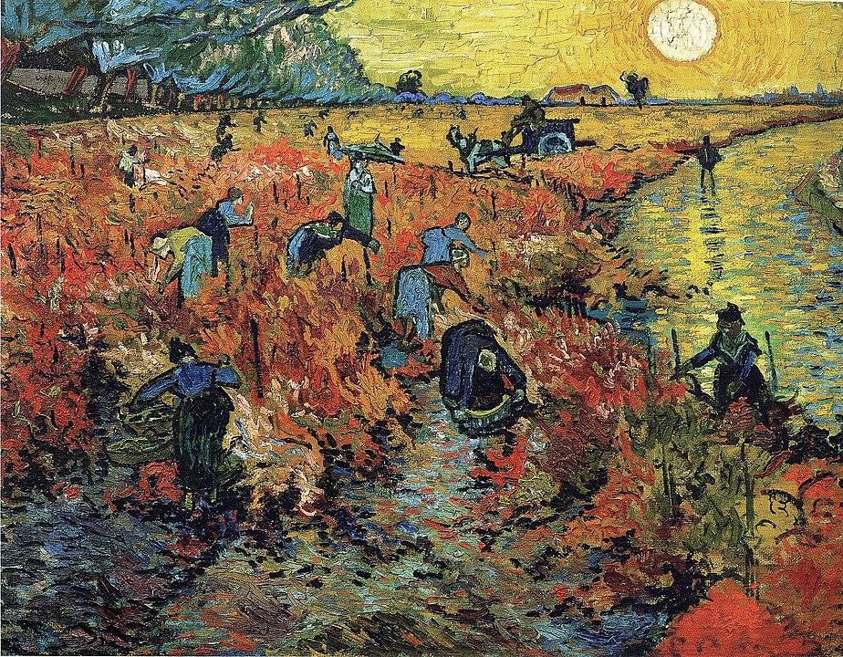 フィンセント・ファン・ゴッホ「赤い葡萄畑」の画像