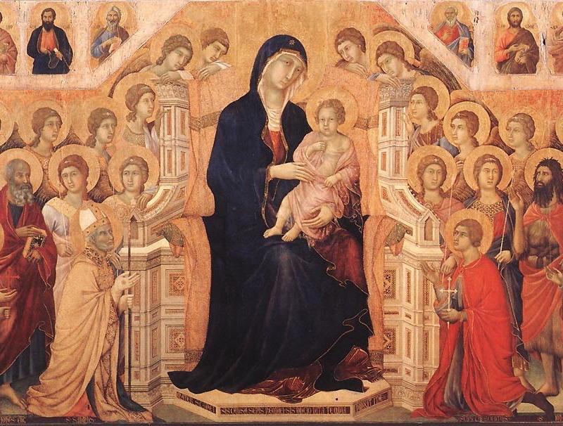 ドゥッチョ・ディ・ブオニンセーニャ「マエスタ(荘厳の聖母)」(部分)の画像
