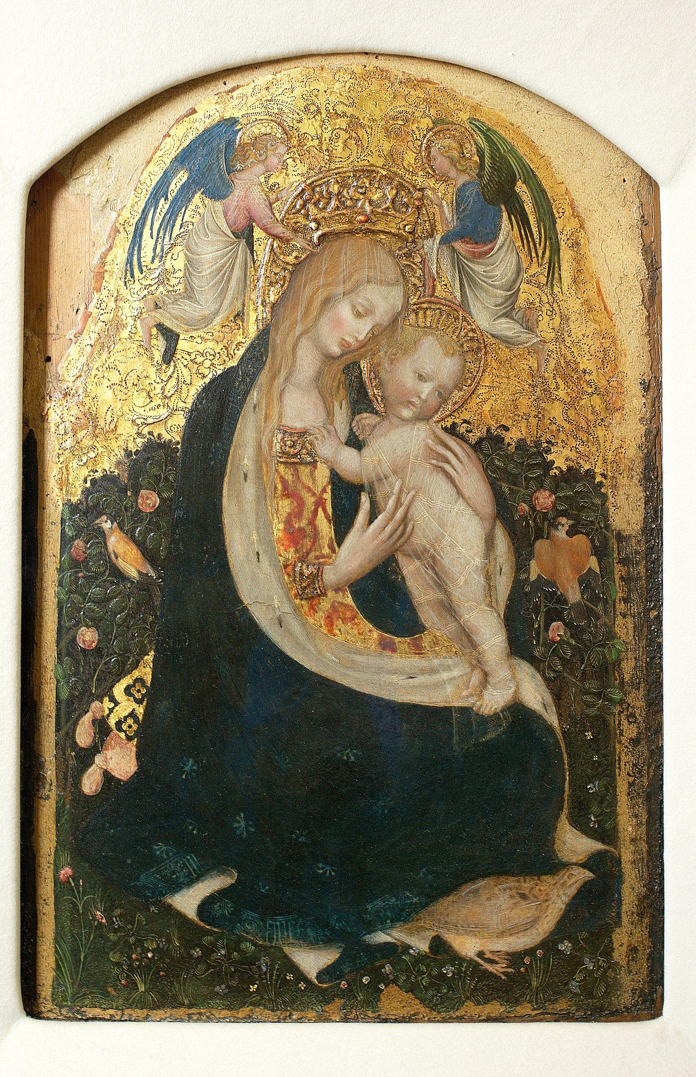 ピサネロ「鶉の聖母」の画像