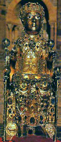 聖女フォワの遺物像の画像