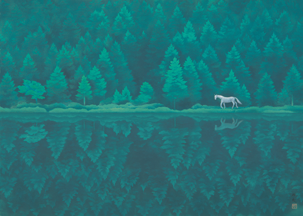 東山魁夷「緑響く」の画像