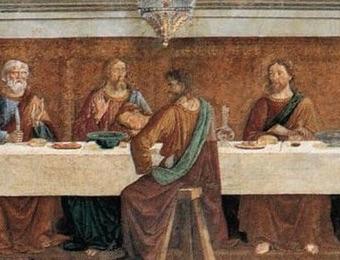 ユダだけがテーブルの手前にいる画像