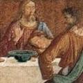 イエスに寄りかかるヨハネの画像