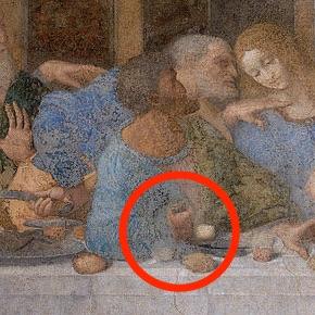 銀貨の入った袋を持ったユダの画像