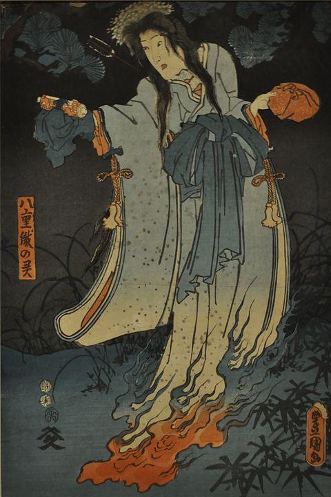 歌川国貞「八重織の霊」
