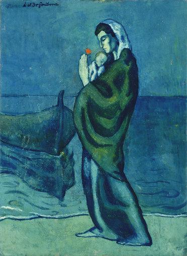 パブロ・ピカソ「海辺の母子像」