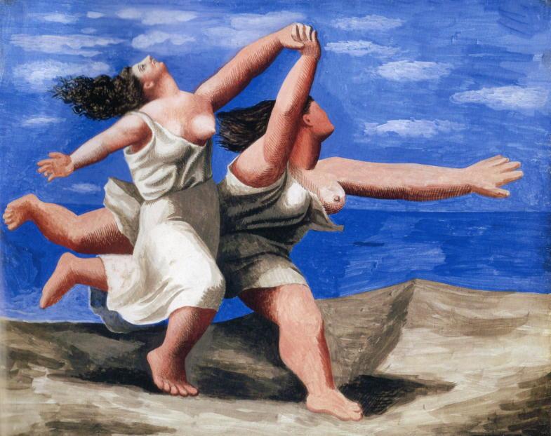 パブロ・ピカソ「浜辺を走る二人の女性」