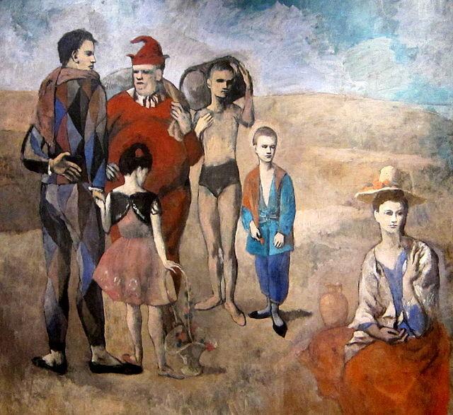 パブロ・ピカソ「サルタンバンクの家族」