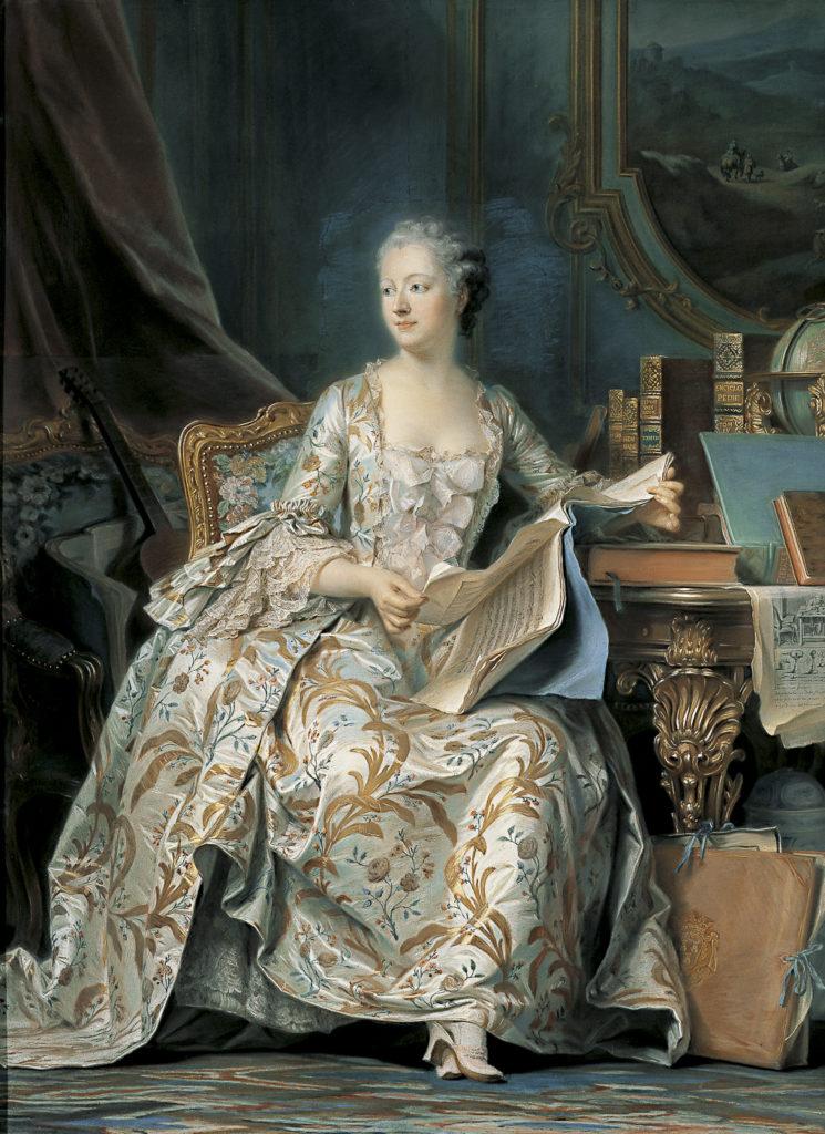 モーリス・カンタン・ド・ラ・トゥール「ポンパドゥール侯爵夫人の肖像」