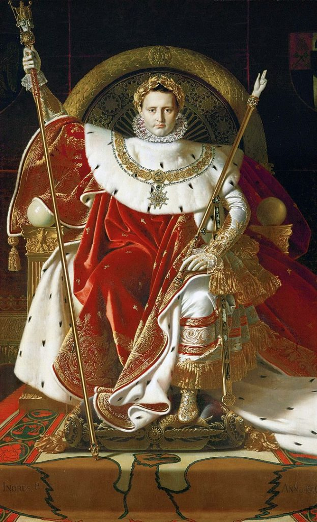 ドミニク・アングル「玉座のナポレオン」