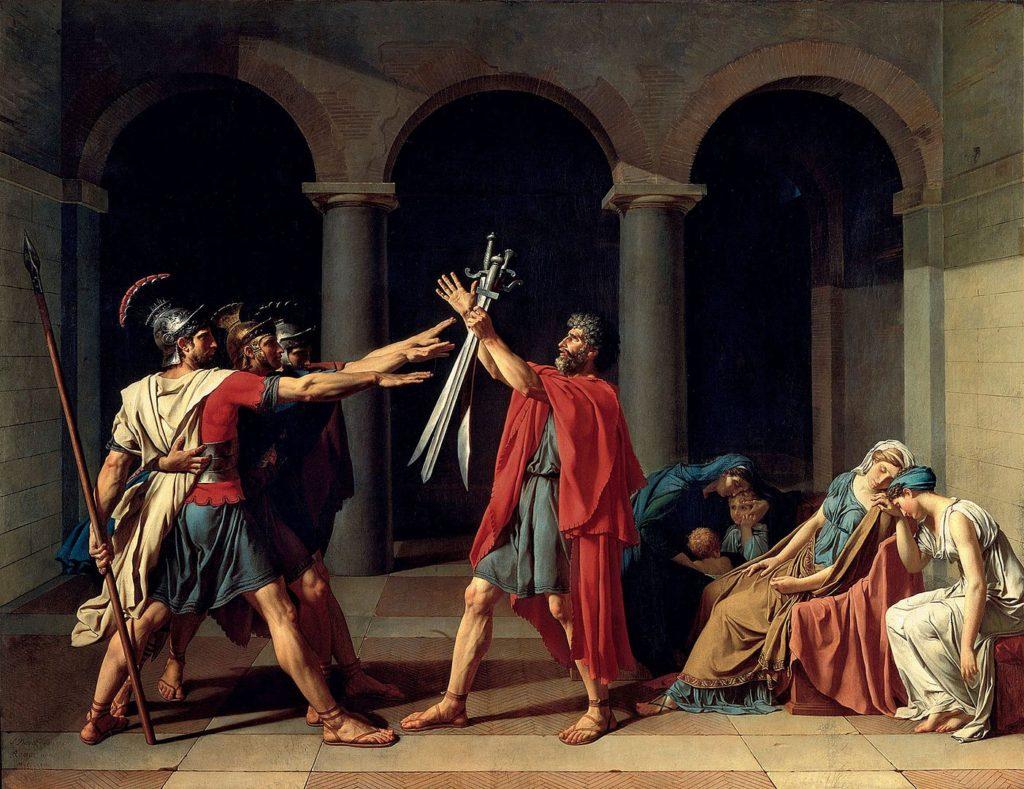 ジャック=ルイ・ダヴィッド「ホラティウス兄弟の誓い」